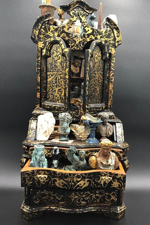 Antiquarian Bureau Trumeau Bookcase
