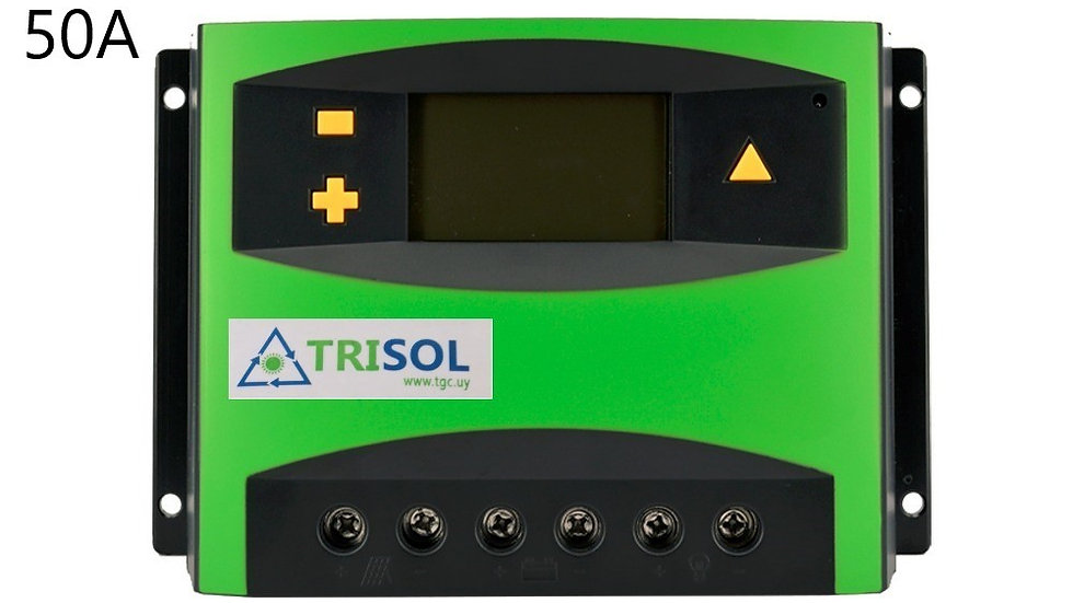 Controlador Regualdor 12/24v 50A Lcd Mod TK