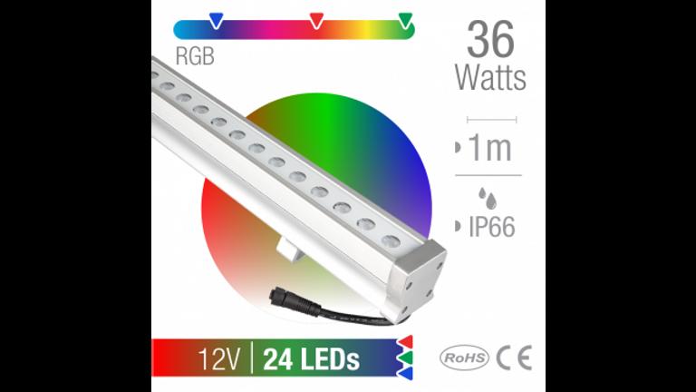 Ba�ador LED 36W RGB  24 LEDs  Exterior