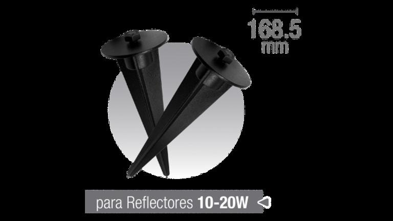 Accesorio reflectores, pincho jardin. Color Negro ( 2 uds )
