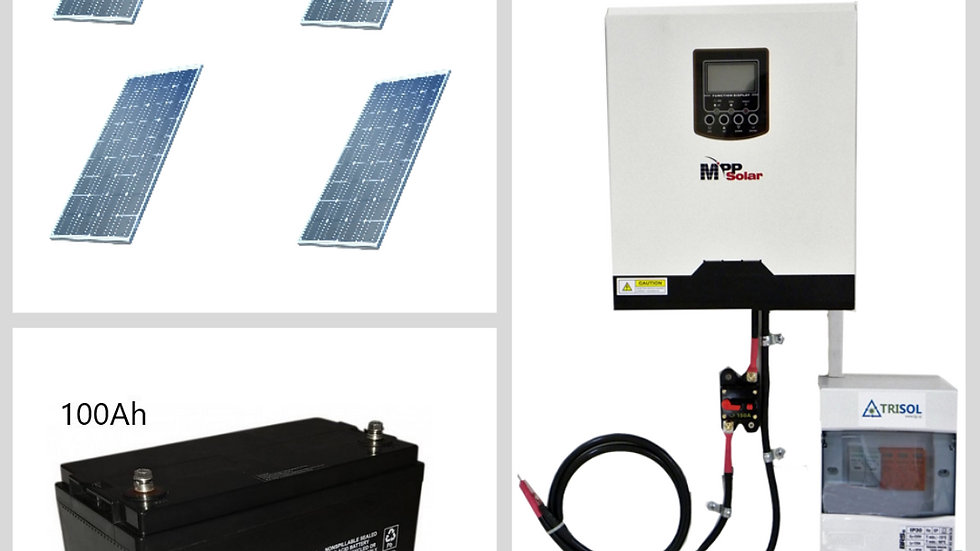 Kit Solar Off-Grid 400w Completo Premium