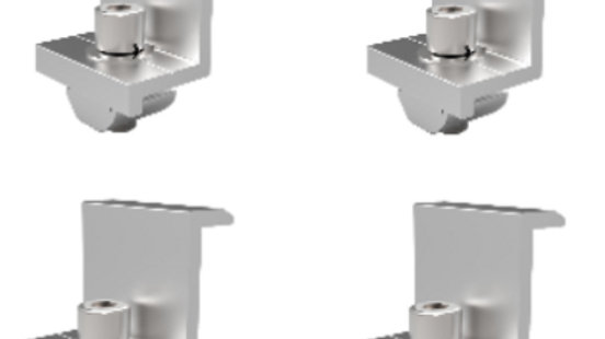 4 Grampas Laterales Para Paneles Solares de 40mm