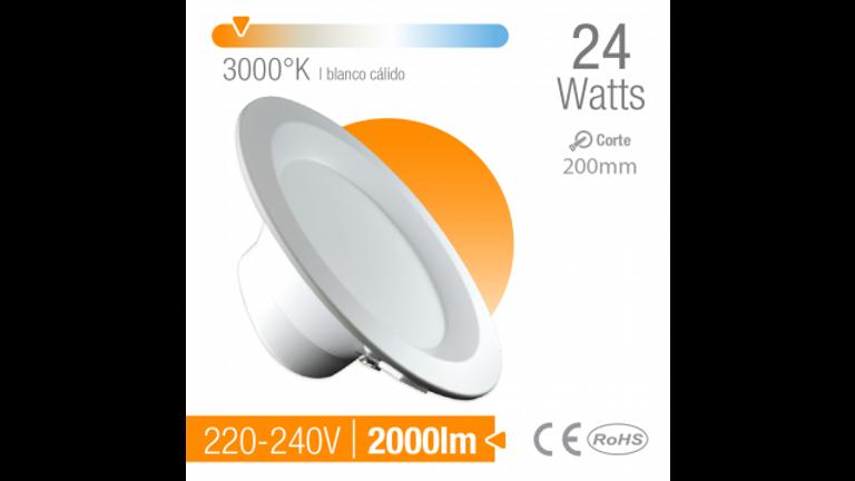 Spot LED de empotrar 220 mm BLANCO Calido 3000 K