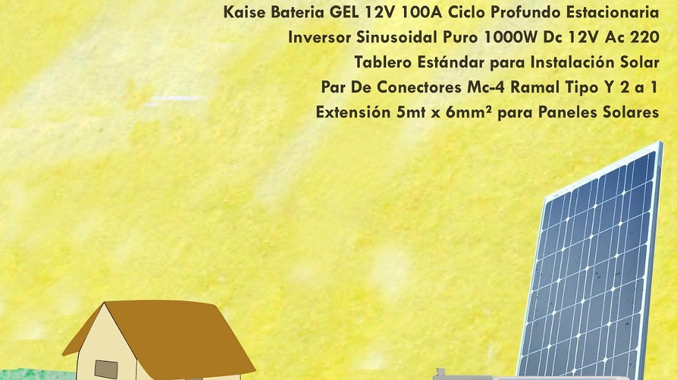 Kit Solar 1000W Estandar Rapida Instalacion