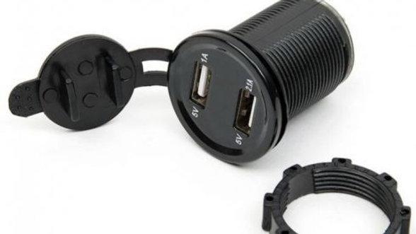 Cargador Doble USB 12v a 5V para chasis