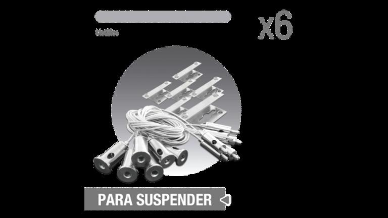 Accesorio para Suspender panel 1206x603. 1206x303. 6 piezas