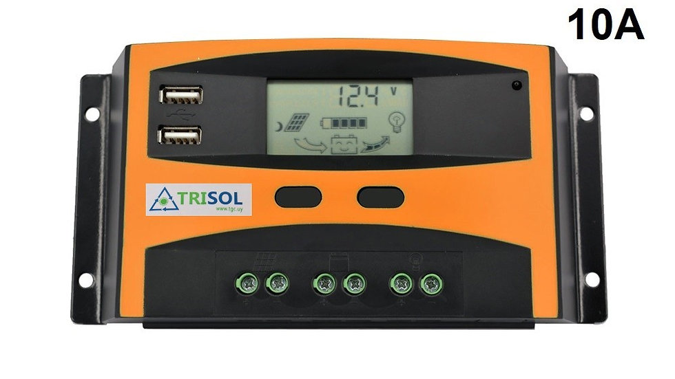 Controlador Regulador 12/24V 10A Mod TK con USB