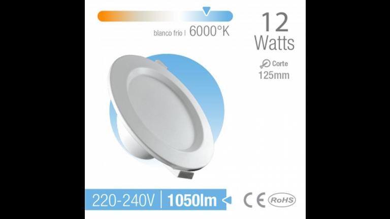 Spot LED de empotrar Medidas125mm Luz Calida
