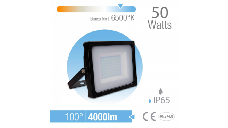 REFLECTOR LED 50W EXTERIOR IP65 BLANCO Frio