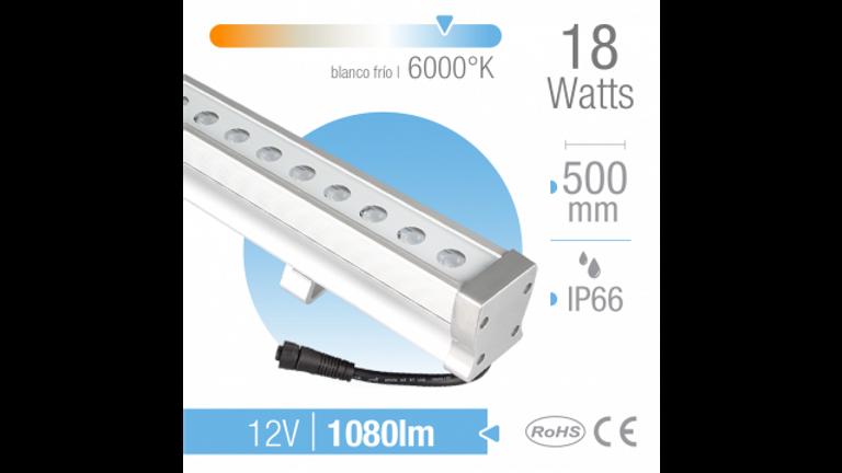Ba�ador LED 18W Luz fria.24 LEDs Exterior IP66