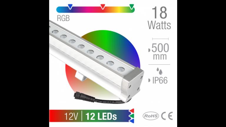 Ba�ador LED 18W RGB  24 LEDs Exterior IP66