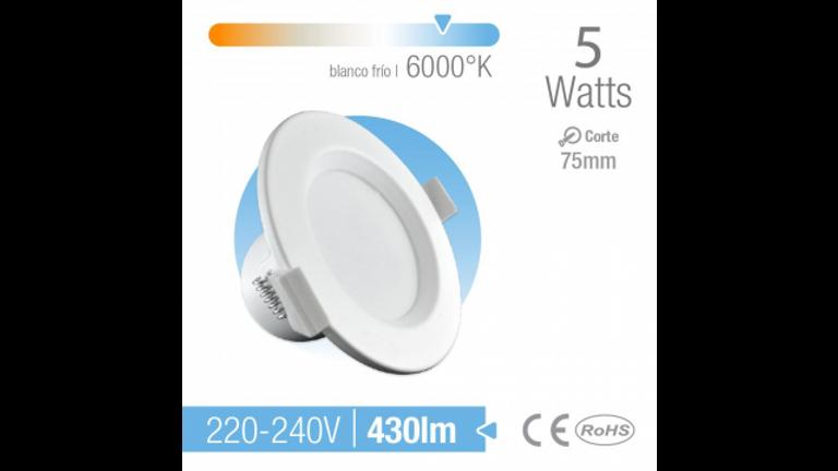 Spot LED de empotrar Medidas 75mm Luz Calida