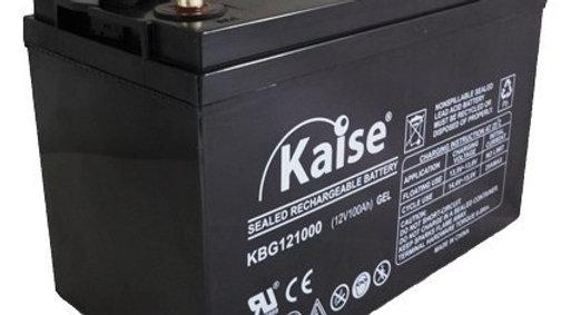 Bateria GEL 120Ah 12V Ciclo Profundo Marca Kaise