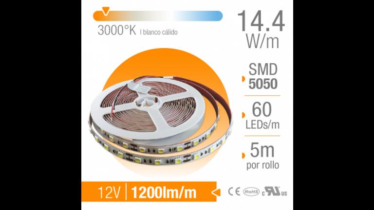 TIRA LED SMD INTERIOR BLANCO CaLIDO 60 LEDs/m 12V