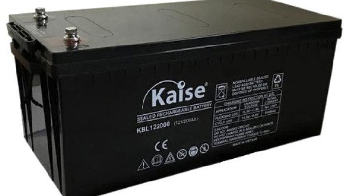 Bateria 200Ah 12V AGM Ciclo Profundo Marca Kaise
