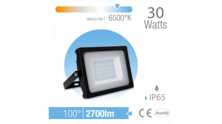 REFLECTOR LED 30W EXTERIOR IP65 BLANCO FR�O