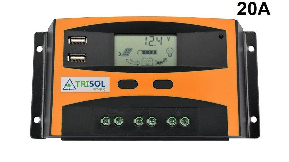 Controlador Regulador 12/24V 20A Mod TK con USB