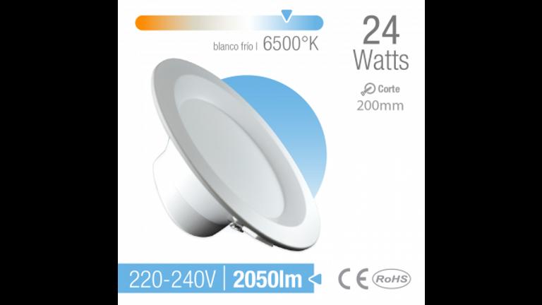 Spot LED de empotrar 220 mm Luz fria