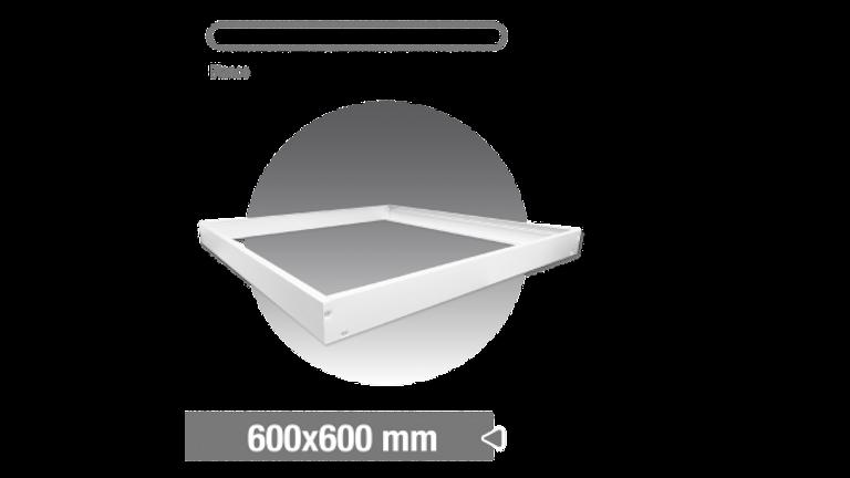 Accesorio paneles. kit 4 barras para fijar en techo. Color BLANCO