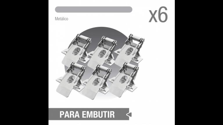 Accesorio para empotrar panel 1206x603. 1206x303. 6 piezas