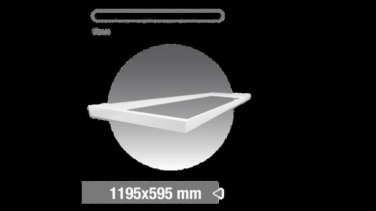 Accesorio paneles 1195x595. kit 4 barras para fijar en techo. Color BLANCO