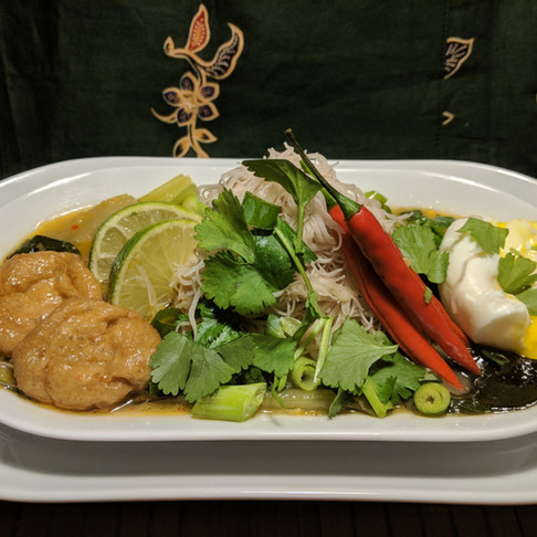 Sambalicious coconut noodle curry
