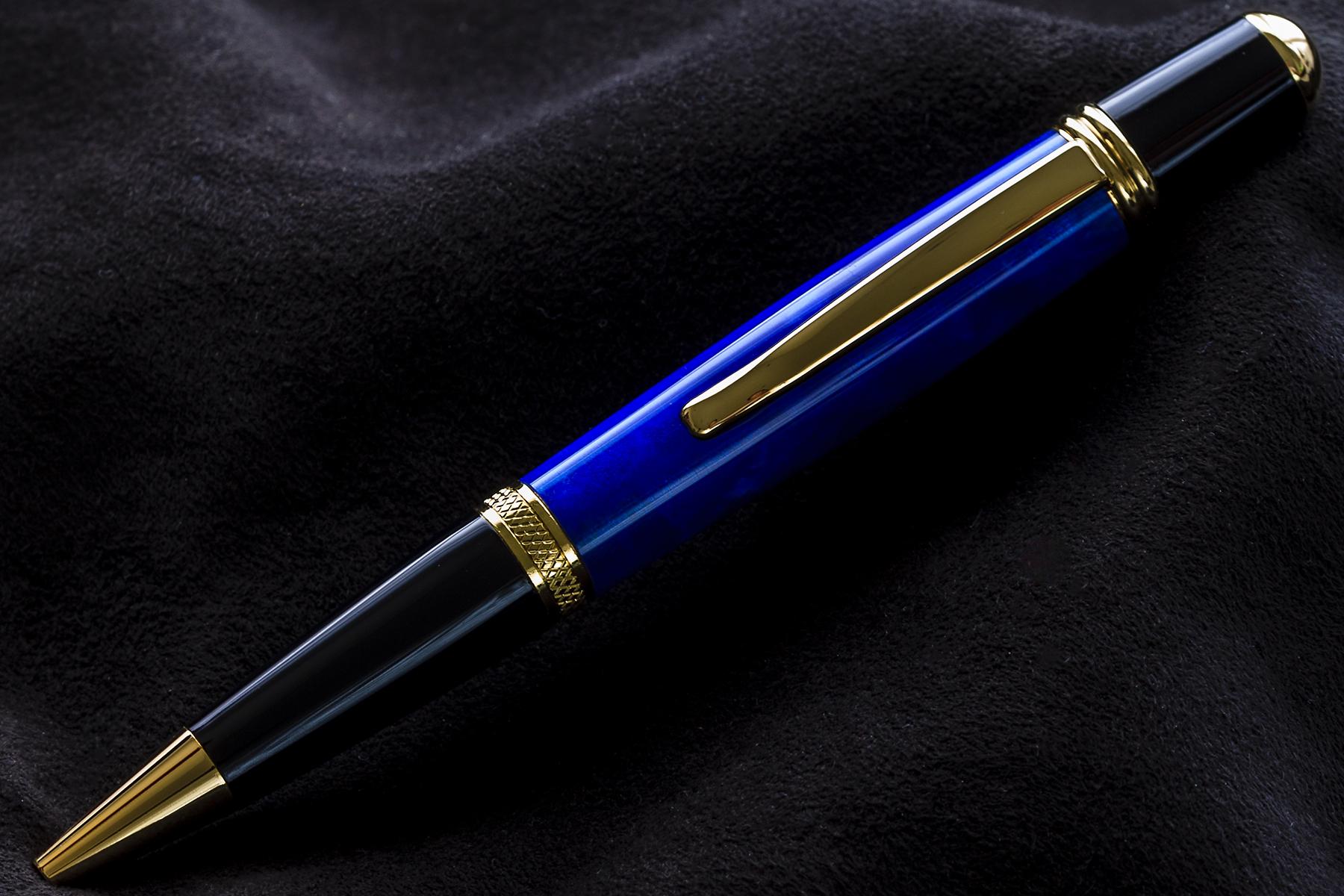 Bolígrafo en Resina Azúl