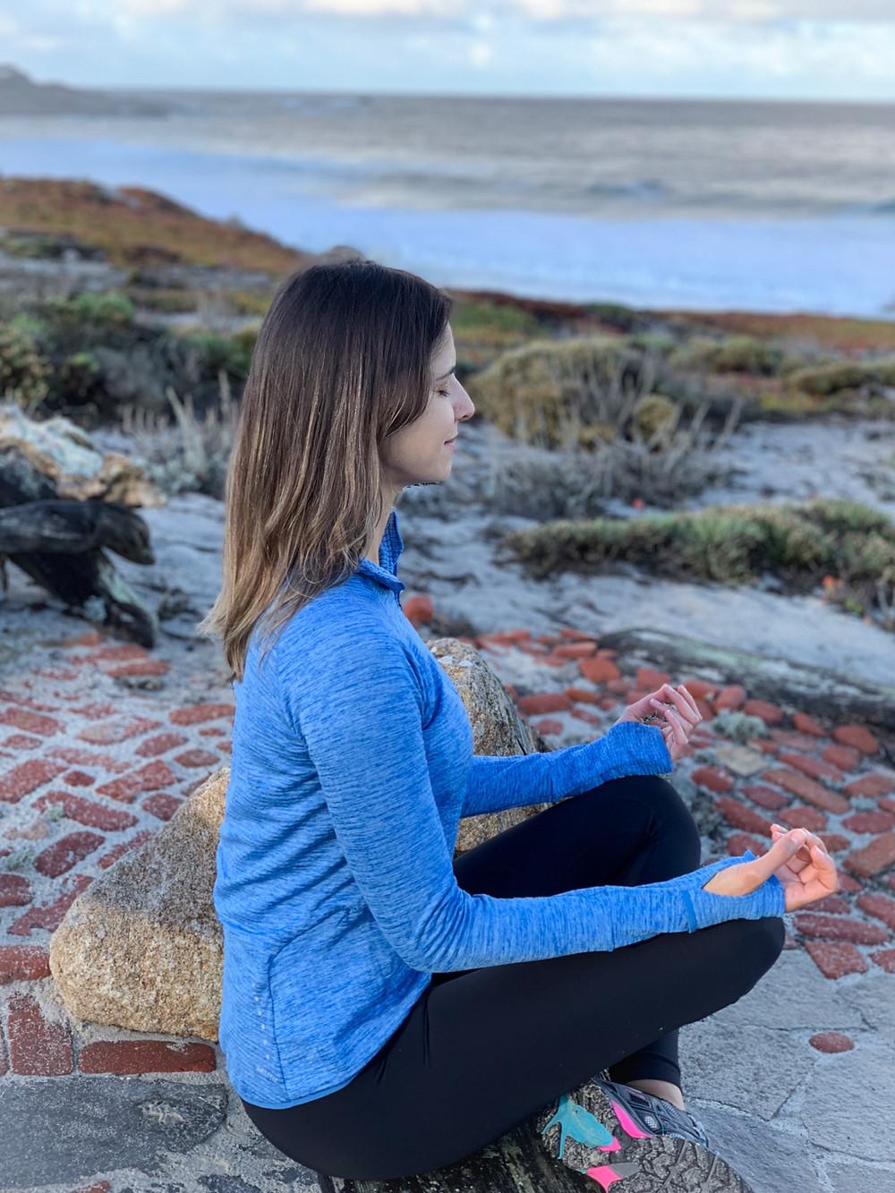 Meditating in Pebble Beach, CA