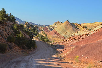 Notom Road, superbe itinéraire en Utah.
