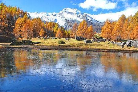 Couleurs d'automne au village du Monal en Haute Tarentaise.