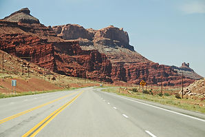 Route US 191 au nord de Moab Utah usa.