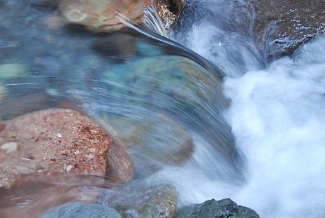 Uncompahgre River près de Ouray Colorado usa.