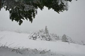 Jour de neige sur le plateau d'Aussois en Haute Maurienne.