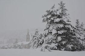Jour de neige à Sardières en Haute Maurienne.