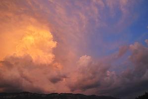 Ciel d'orage sur le Revard en Savoie.