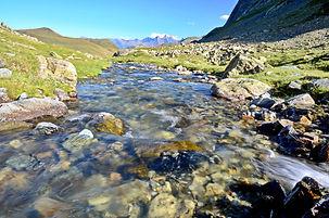 Ruisseau du Lac Noir en Maurienne.