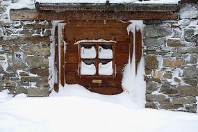 Dentelles de neige à Bonneval après la tempête.