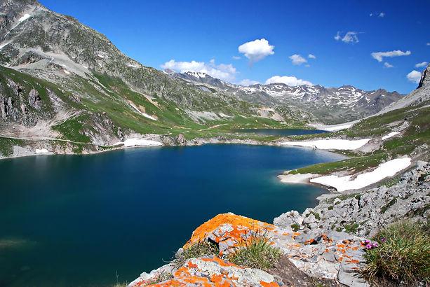 Entre Maurienne et Clarée les lacs des Rochilles.