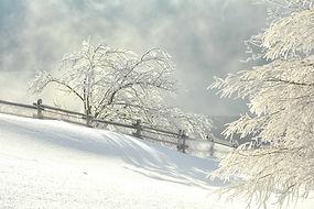 Soir d'hiver au Revard.