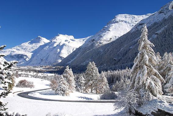 Plaine de Bessans en Haute Maurienne.