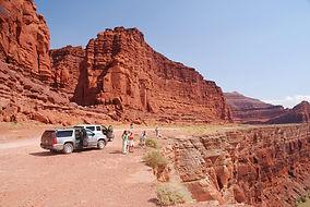 Shaffer Trail Canyonlands N.P. arrivée sur les bords du Colorado.