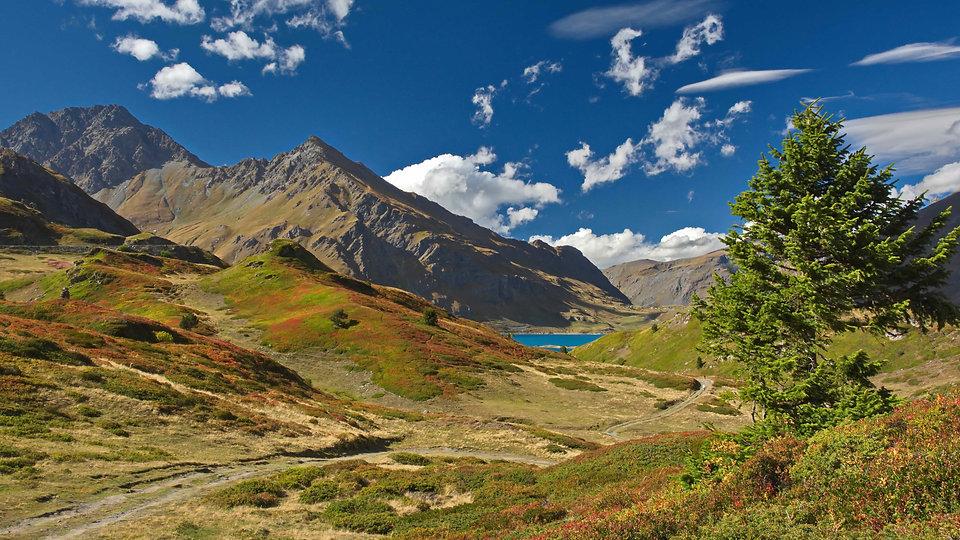 Fin septembre sur le plateau du Mont Cenis en Haute Maurienne.