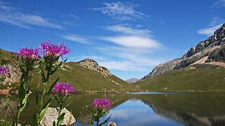 Le lac Noir dans le massif des Grandes Rousses.