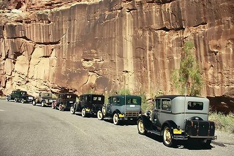 Retour vers le passé sur une route de l'Utah.