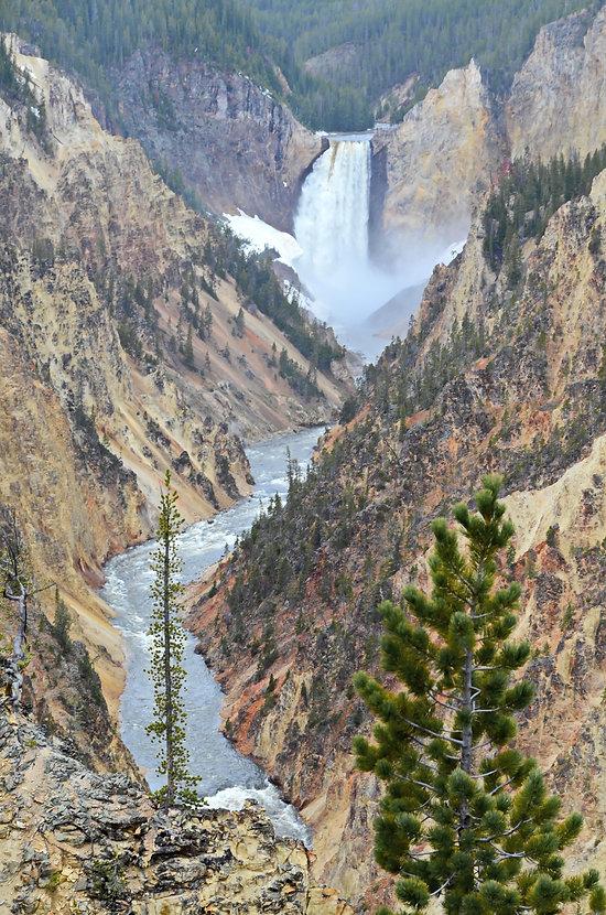 """Lower Fall"" sur la ""Yellowstone River"""
