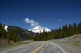 Route US 191 en arrivant à Big Sky au Montana.