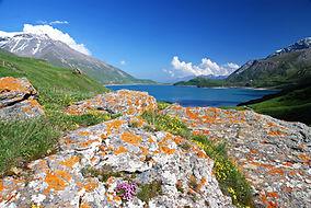 Le lac du Mont Cenis en Haute Maurienne.