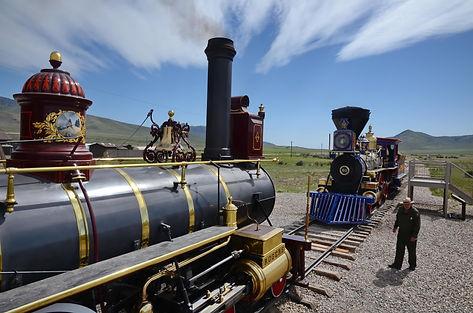 Promontory Point en Utah, lieu de jonction des chemins de fer Union Pacific et Central  Pacific