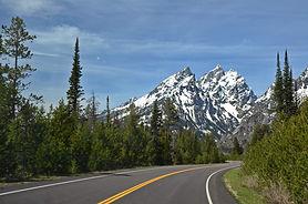 Arrivée à Tetons National Park dans le Wyoming.