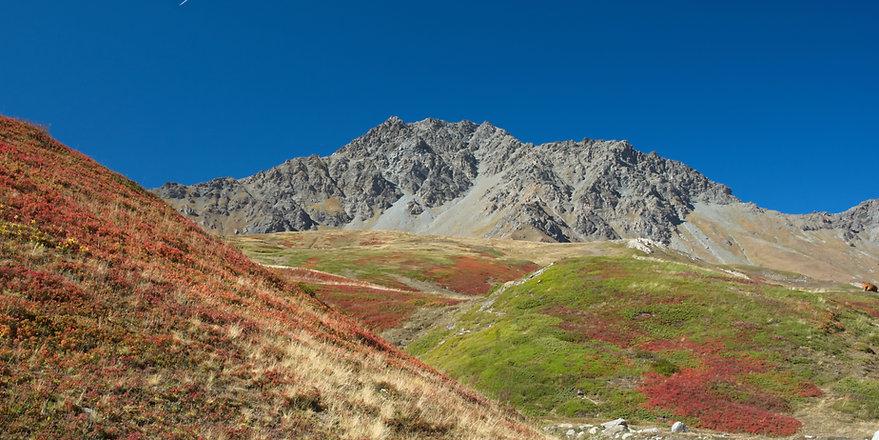 Vers le Petit Mont Cenis en automne.